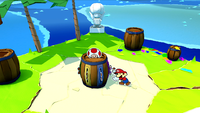 How to rescue the Red Toad on Spade Island in Paper Mario: The Origami King