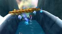 Mario in the Cosmic Cove Galaxy
