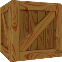 Rendered model of a Crate in Super Mario Galaxy.