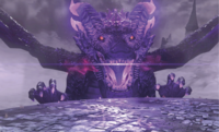 The Ruined Dragon preparing an attack.