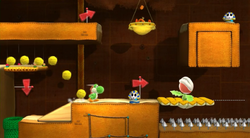 The Desert Pyramid Beckons from Yoshi's Woolly World.