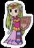 Young Zelda Minish Cap Sticker.png