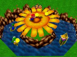 The minigame Coin Shower Flower.