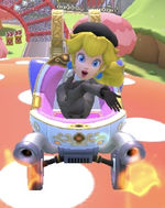 Peach (Wintertime) performing a trick.