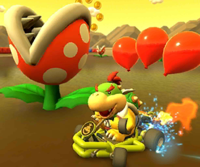 The icon of the Bowser Jr. Cup challenge from the Valentine's Tour and the Toadette Cup challenge from the Ninja Tour in Mario Kart Tour