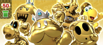 The Gold Pipe from the Ninja Tour in Mario Kart Tour