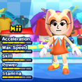 A Cream the Rabbit costume for Miis in the Wii version of Mario & Sonic at the London 2012 Olympic Games.