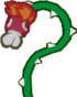 Sprite of a flaming Lava Bud, from Paper Mario.