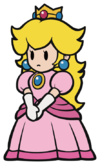Sprite of Princess Peach from Paper Mario: The Origami King