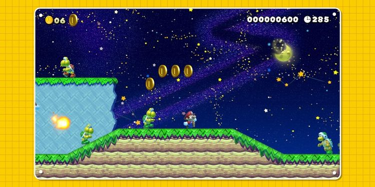 Picture shown with the first question in Super Mario Maker 2 Trivia Quiz