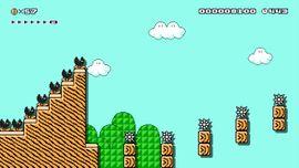 Sound Effects level in Super Mario Maker