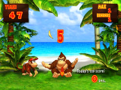 The Banana Juggle mini-game of Donkey Konga
