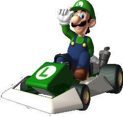 Luigi artwork from Mario Kart DS