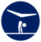 Event icon used for Gymnastics - Floor Exercise in Mario & Sonic at the Olympic Games Tokyo 2020