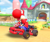 The icon of the Birdo Cup challenge from the Ninja Tour in Mario Kart Tour