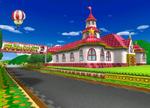 The icon for Mario Circuit, from Mario Kart Double Dash!!