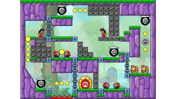 Miiverse screenshot of the 14th official level in the online community of Mario vs. Donkey Kong: Tipping Stars