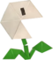 An origami Nipper Plant from Paper Mario: The Origami King.