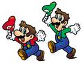 SMA Mario and Luigi Tipping Their Caps Artwork.png