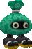 Rendered model of the Petapeta enemy in Super Mario Galaxy.
