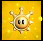 A Shine Sprite in Super Mario Sunshine.