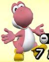 Pink Yoshi from Mario Super Sluggers