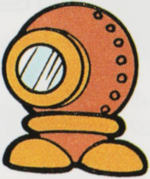 Artwork of an Aqua Kuribō from Super Mario Land 2: 6 Golden Coins.