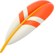 Artwork of a Cape Feather from Mario Kart 8 Deluxe.