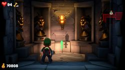 The Royal Coffers, a room in Castle MacFrights in Luigi's Mansion 3.