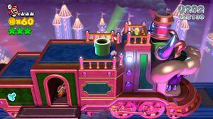 Hidden Luigi found in The Bowser Express in Super Mario 3D World.