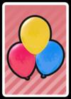 A Balloons Card in Paper Mario: Color Splash.