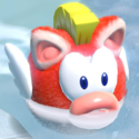 A cat Cheep Cheep in Bowser's Fury