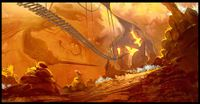 Concept artwork of Donkey Kong Country Returns showing a cave-like location.
