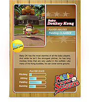 Level 1 Baby Donkey Kong card from the Mario Super Sluggers card game