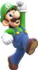 Artwork of Luigi from Super Mario 3D World