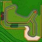 An aerial view of Mario Raceway.