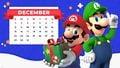 My Nintendo Mario Luigi Happy Holidays calendar desktop.jpg