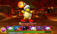 Screenshot of World 7-1, from Puzzle & Dragons: Super Mario Bros. Edition.