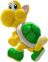 A Green Koopa Troopa with cat-like features from Super Mario 3D World + Bowser's Fury.