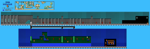 Map in the NES version
