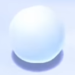 Close-up of a Snowball from Super Mario 3D World.
