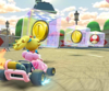 Thumbnail of the Pink Gold Peach Cup challenge from the 2nd Anniversary Tour; a Break Item Boxes bonus challenge set on Paris Promenade 2