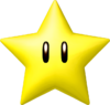 Artwork of a Super Star from Mario Kart Wii