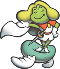 Prince Peasley in Mario & Luigi: Superstar Saga + Bowser's Minions.