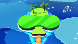 Club Island in Paper Mario: The Origami King