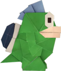 An origami Spike from Paper Mario: The Origami King.