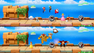 Get Over It minigame from Super Mario Party.