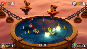 Lightning Round minigame from Super Mario Party