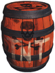 Artwork of a TNT Barrel for Donkey Kong 64.