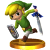 Toon Link's trophy, from Super Smash Bros. for Nintendo 3DS.